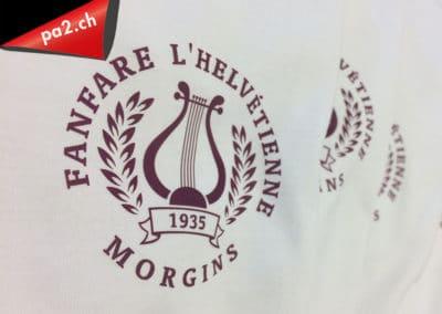 Tshirt décoré avec un transfert sérigraphique imprimé